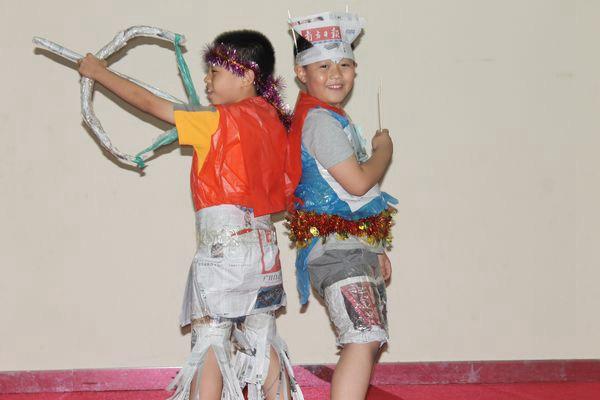 儿童手工制作服装秀六一